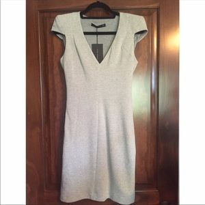 Zara light gray heather sheath dress